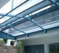 Fundação Getúlio Vargas – Estrutura metálica duas águas para policarbonato