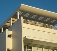 Residência – estrutura para cobertura metálica e revestimento em ACM