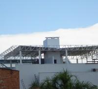 Residência – estrutura metálica para cobertura